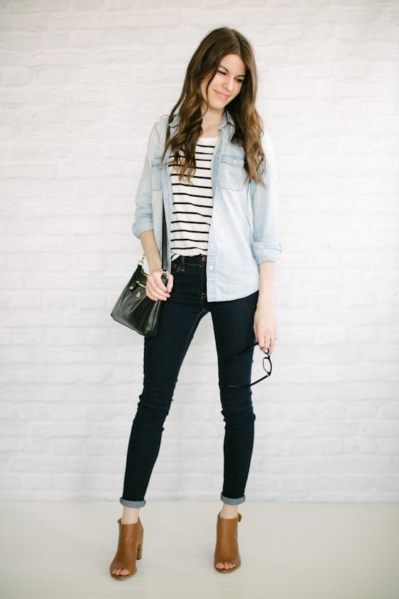 chambray + stripes: the fall back