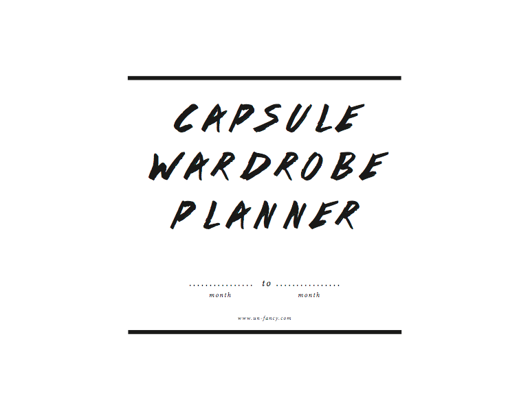 new capsule wardrobe planner updated for summer. Black Bedroom Furniture Sets. Home Design Ideas