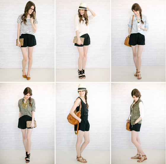 six ways to wear your black shorts