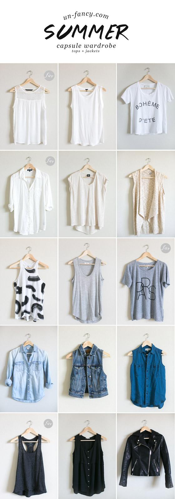 Unfancy Capsule: My Capsule Wardrobe // Summer 2014