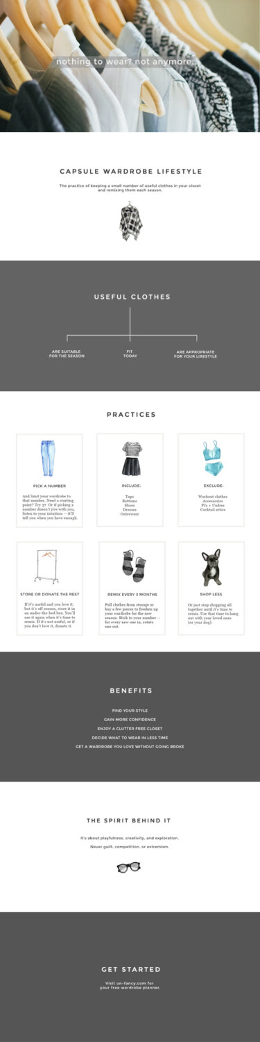 year two: a fresh look at how to create a capsule wardrobe