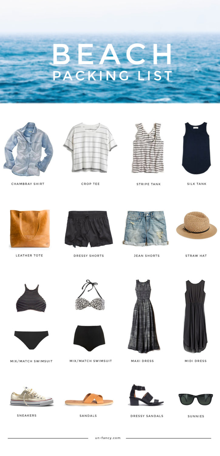 what to pack for the beach