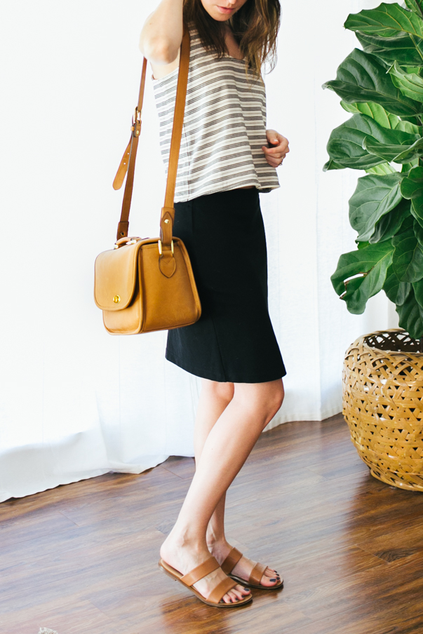 4 ways to style a black pencil skirt