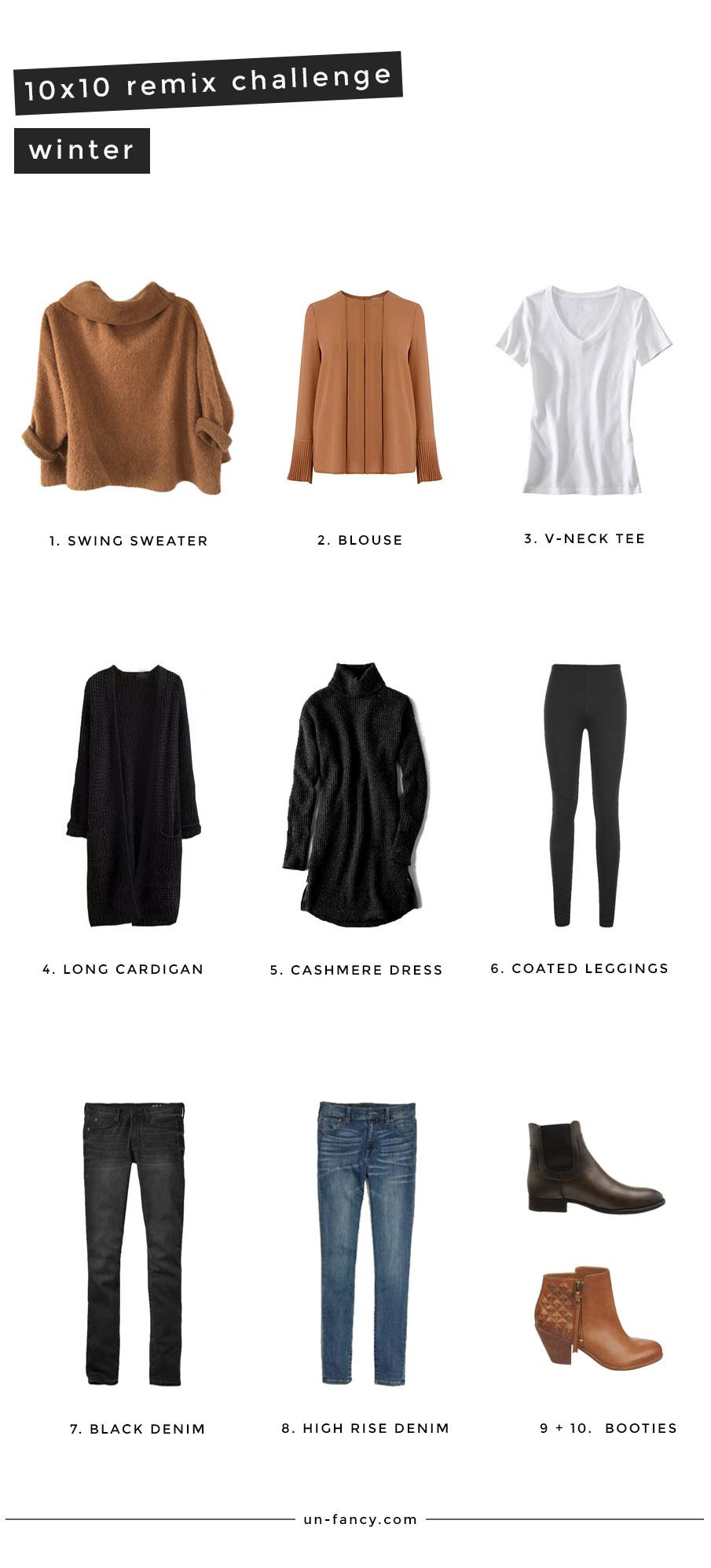567d6c29c26e7 winter remix: 10 pieces, 10 outfits, 10 days
