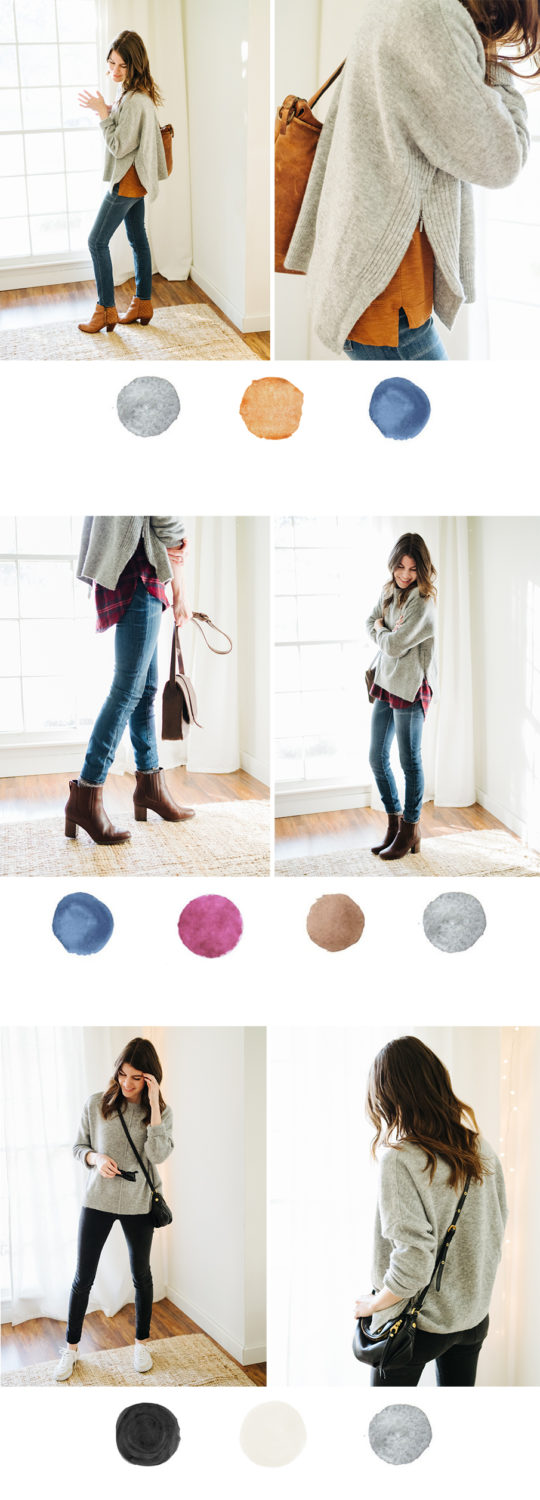 got grey? here's three color palettes to shake it up