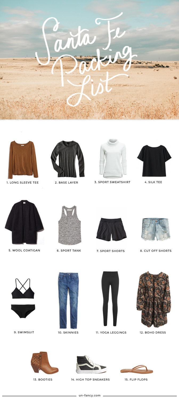 santa fe packing list