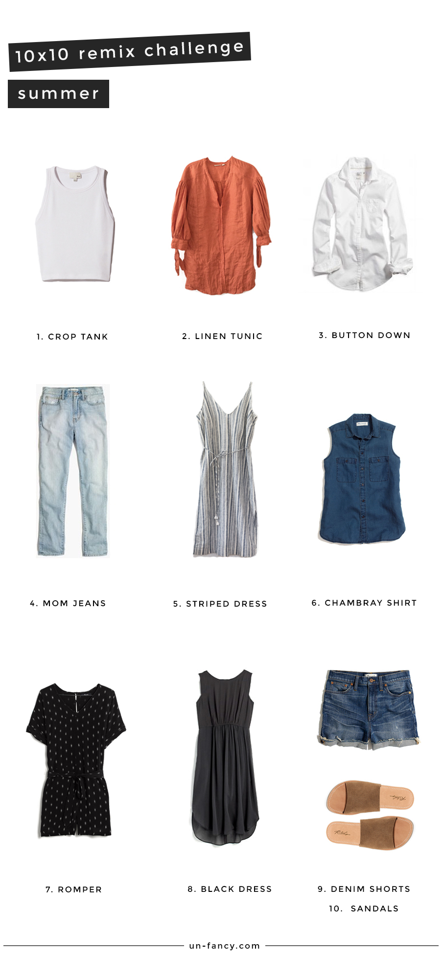 Summer Remix 10 Pieces 10 Outfits 10 Days