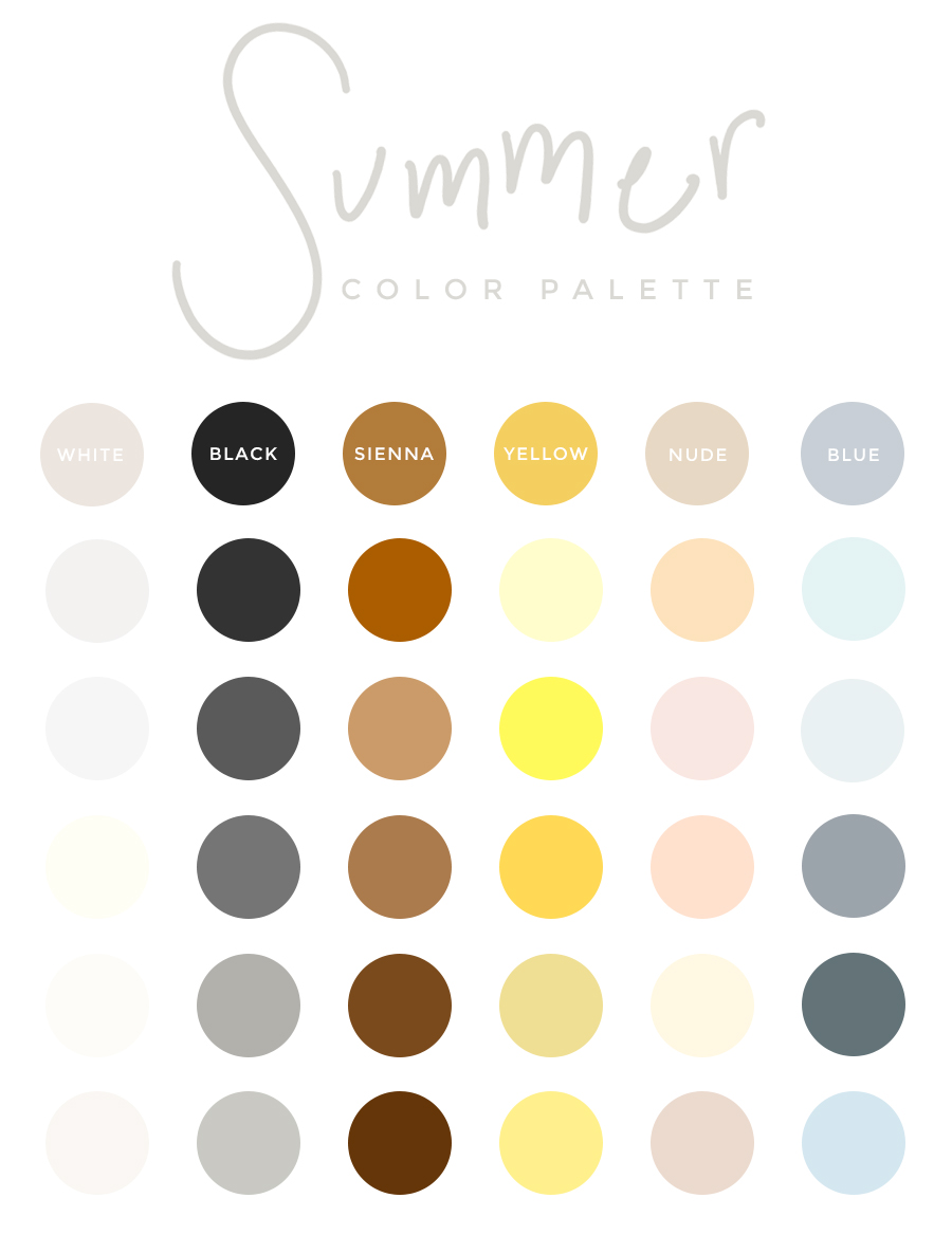 Summer Palette 2018: My Summer Color Palette (plus How To Create A Color