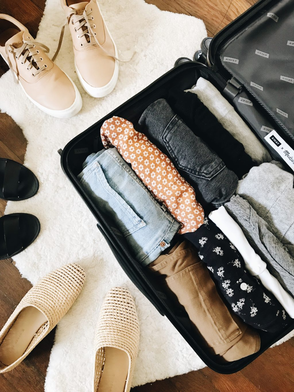 packing for new york city: 18 outfits in one carry-on